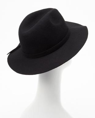 BLACK  B:フェルトリボン付HAT見る