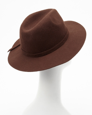 BROWN  B:フェルトリボン付HAT見る