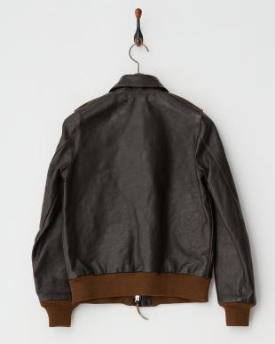 BROWN×ブラック 馬革ジャケット見る