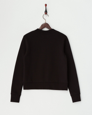 Black 裏起毛ロゴ刺繍Sweatshirt見る