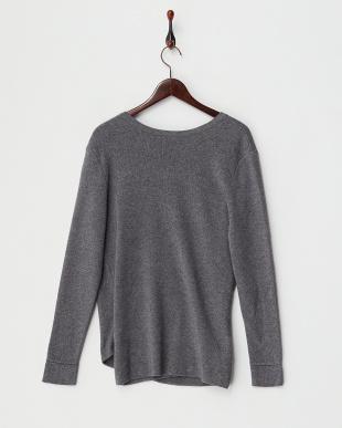GREY  Crossover Knit Pullover見る
