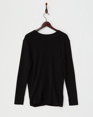 BLACK  Crossover Knit Pullover見る