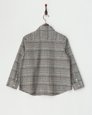Charcoal Gray系  微起毛チェックシャツ見る