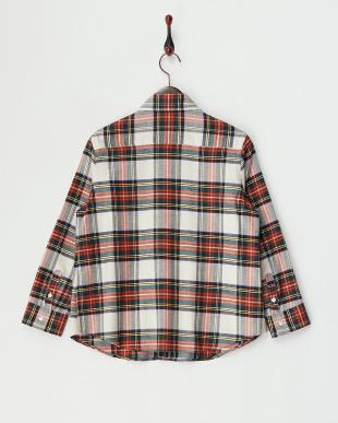 Red  微起毛チェックシャツ見る