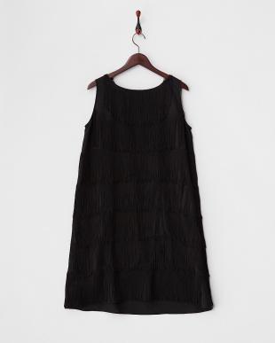 Black FRINGE DRESS見る