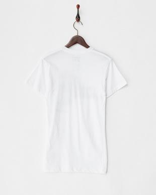 ホワイト リゾートプリントロングTシャツ見る