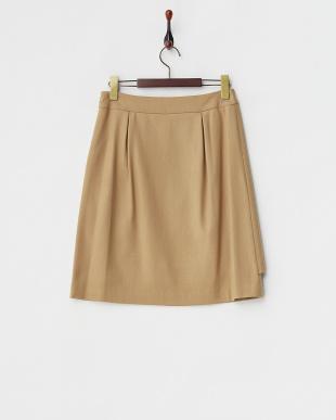 ベージュ  ラップデザインスカート見る