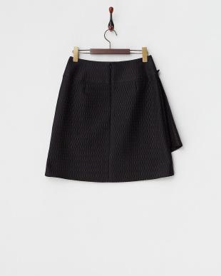 ブラック  ラップデザイン ハニカムジャカードスカート見る