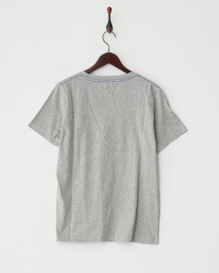 杢グレー  クルーネック無地Tシャツ見る
