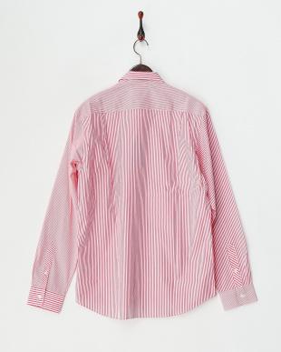 ピンク  ストライプクレイジーシャツ見る