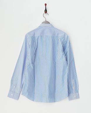 ブルー  ストライプクレイジーシャツ見る