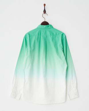 エメラルドグリーン グラデーションBDシャツ見る