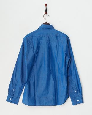 ブルー  シャンブレーBDシャツ見る
