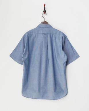 ブルー  ライトオックス 半袖BDシャツ見る