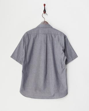 ネイビー  ライトオックス 半袖BDシャツ見る
