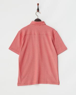 レッド  トリコロールライン 鹿の子ポロシャツ見る