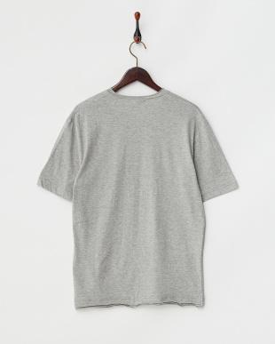 グレー  半袖杢VネックTシャツ見る