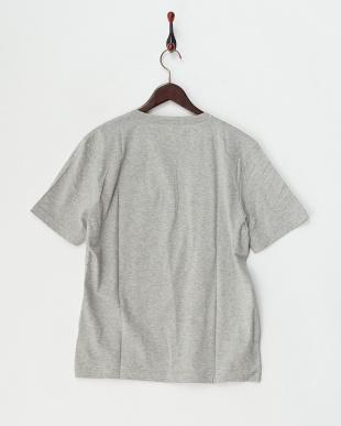 グレー  半袖杢ヘンリーネックTシャツ見る