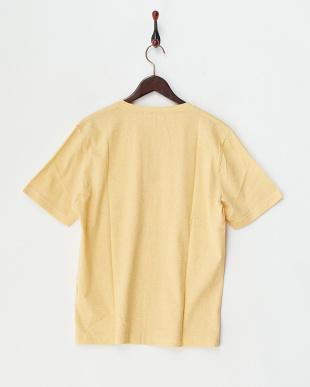 イエロー  半袖杢ヘンリーネックTシャツ見る