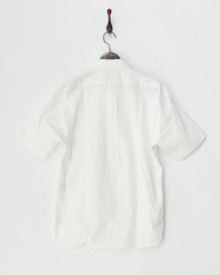 ホワイト  ライトオックス半袖シャツ見る