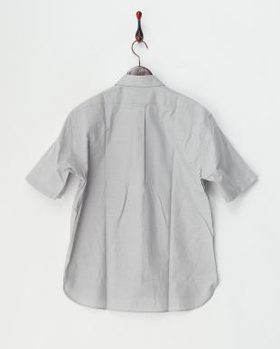 グレー  ライトオックス半袖シャツ見る