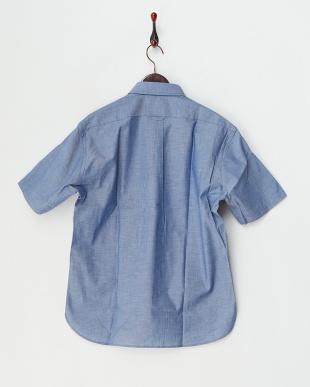 ブルー  ライトオックス半袖シャツ見る