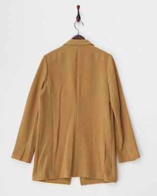 ベージュ クリーミーフリースジャケットコート(大きいサイズ)見る