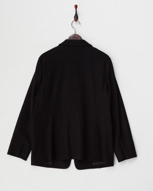 ブラック ルミナリーウールスムースジャケット(大きいサイズ)見る