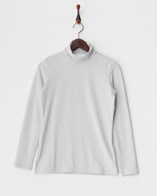 ブラック  UVカット 吸汗速乾ハーフジップ半袖ハイネックシャツ+長袖インナーシャツ見る