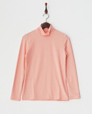 レッド  UVカット 吸汗速乾ハーフジップ半袖ハイネックシャツ+長袖インナーシャツ見る