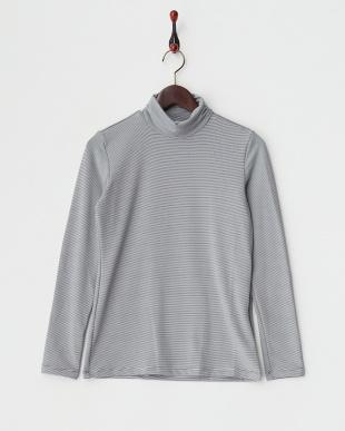 ホワイト  UVカット 吸汗速乾ハーフジップ半袖ハイネックシャツ+長袖インナーシャツ見る