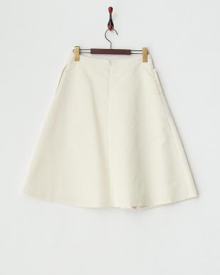 オフホワイト  シルクミックスグログランスカート見る