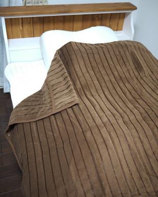 ブラウン  ウルトラホット掛毛布 シングル見る