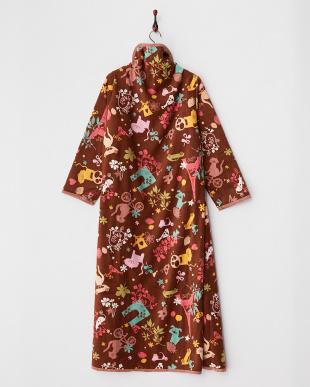 ブラウン  着る毛布ジュニアNuKME 【アトリエLZC】 150cm丈│UNISEX見る