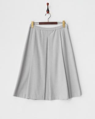 シルバーグレー  ボックスプリーツスカート見る