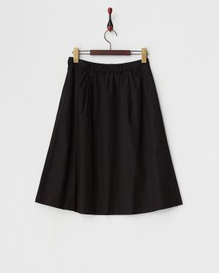 ブラック  フロントアシメラッフルフレアスカート見る