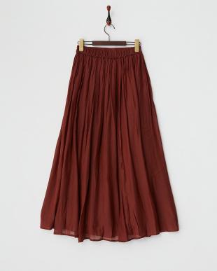 ブラウン  ギャザーマキシスカート見る