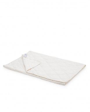 ホワイト 大豆繊維ベッドパッド(シングル)見る