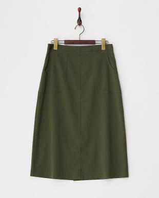 カーキ  セミタイトスカート見る