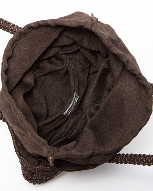 BROWN  WAX CORD MACRAME TOTE見る