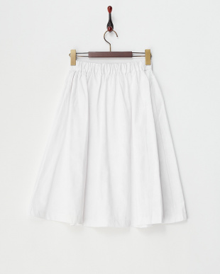 オフホワイト  迷彩ジャガードフレアスカート見る