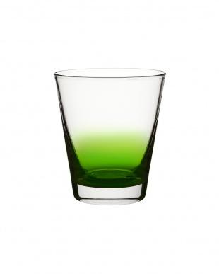 グリーン ツートングラス6個セット見る