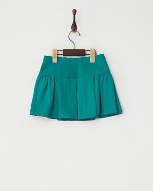 ライトブルー  ギャザープリーツスカート|GIRL見る