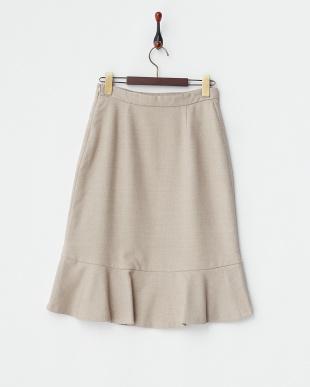 ベージュ  ストレッチマーメイドスカート見る