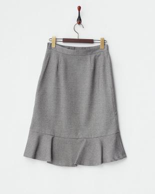 グレー  ストレッチマーメイドスカート見る