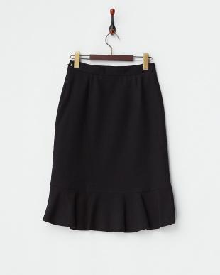 ブラック  ストレッチマーメイドスカート見る