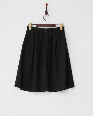 ブラック  ジャガードタックフレアスカート見る