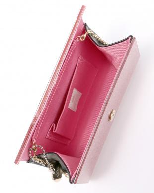 ピンク  ラメ2WAYチェーンバッグ見る