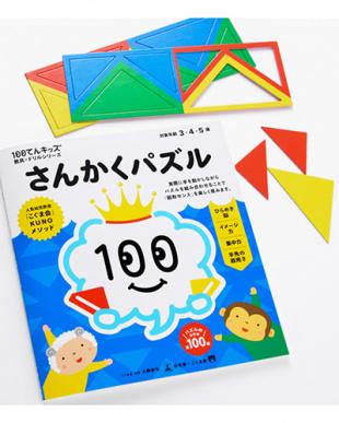 100てんキッズ 教具×ドリルシリーズさんかくパズル見る