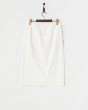 white  ラバージャージスカート見る